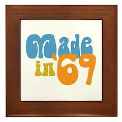 Made in 1969 (Retro) Framed Tile