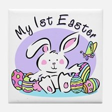 My 1st Easter Bunny Tile Coaster