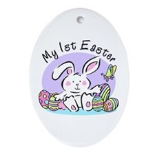 My 1st Easter Bunny Oval Ornament