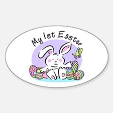 My 1st Easter Bunny Oval Decal
