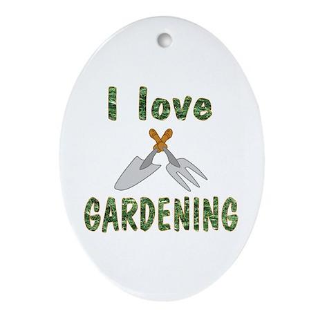 Gardening Oval Ornament
