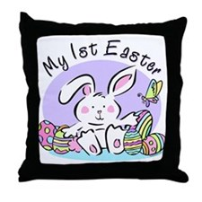 My 1st Easter Bunny Throw Pillow