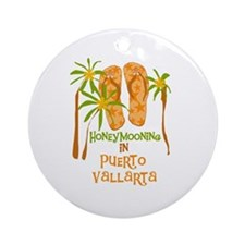 Honeymoon Puerto Vallarta Ornament (Round)