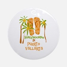 Honeymoon Puerto Vallarta Ornament (Round)