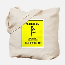 Tae Kwon Do Warning Tote Bag