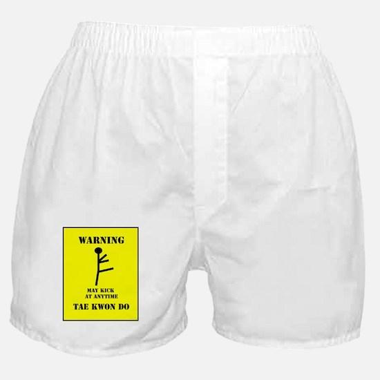 Tae Kwon Do Warning Boxer Shorts