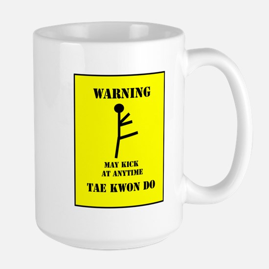 Tae Kwon Do Warning Large Mug