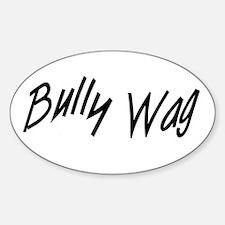BullyWag Black Oval Decal