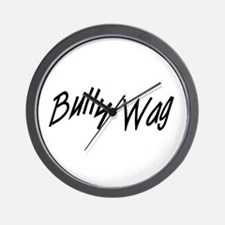 BullyWag Black Wall Clock