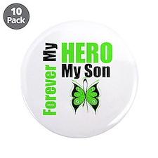 "Lymphoma Hero Son 3.5"" Button (10 pack)"