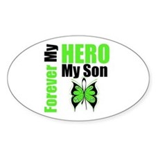 Lymphoma Hero Son Oval Decal