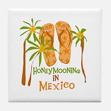 Honeymoon Mexico Tile Coaster