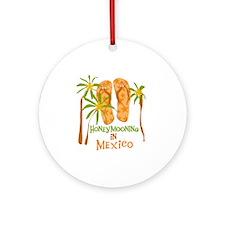 Honeymoon Mexico Ornament (Round)