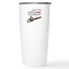 Postal for Chainsaws Travel Mug