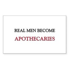 Real Men Become Apothecaries Rectangle Decal