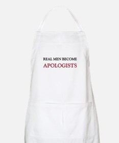 Real Men Become Apologists BBQ Apron