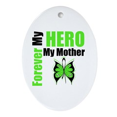 Lymphoma Hero Mother Oval Ornament