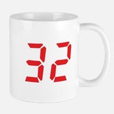 32 thirty-two red alarm clock Mug