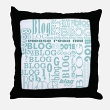 Blog Comment Throw Pillow