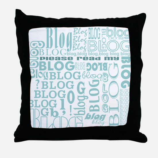 Blog Comment Throw Pillow