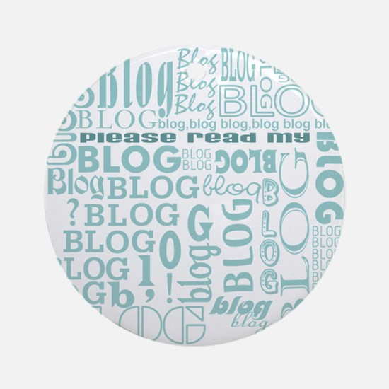 Blog Comment Ornament (Round)