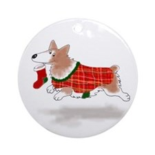 Pembroke Welsh Corgi Ornament (Round)