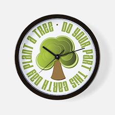 Plant a Tree Earth Day Wall Clock