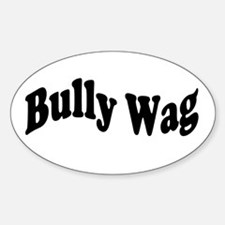 BullyWag Black Wave Oval Decal