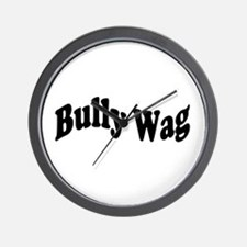 BullyWag Black Wave Wall Clock