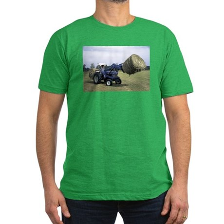 Tractor Hauling Hay Men's Fitted T-Shirt (dark)
