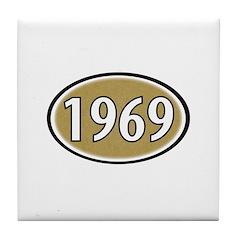 1969 Oval Tile Coaster