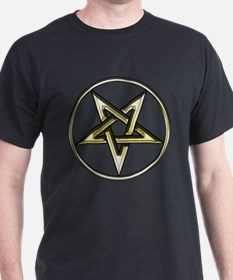 Inverted Gold Pentacle T-Shirt