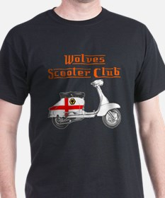 Wolves Scooter Club Black T-Shirt