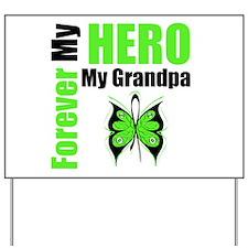 Lymphoma Hero Grandpa Yard Sign