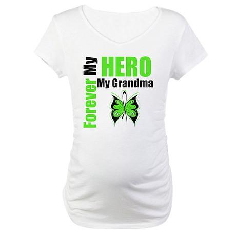 Lymphoma Hero Grandma Maternity T-Shirt