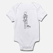 Cute Bikram yoga Infant Bodysuit