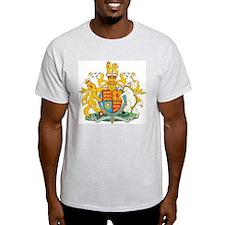 United Kingdom Coat Of Arms Ash Grey T-Shirt