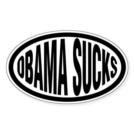 Anti-Obama Bumper Stickers Oval Sticker
