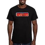 Assault is a Behavior Men's Fitted T-Shirt (dark)