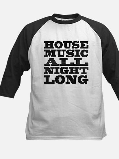 House Music All Night Long Kids Baseball Jersey