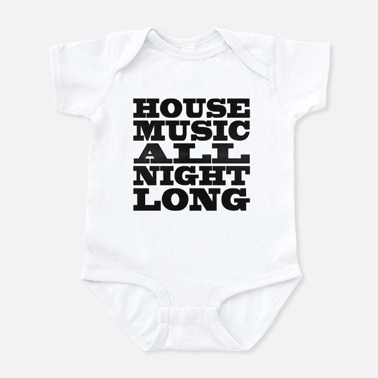 House Music All Night Long Onesie