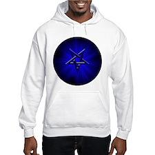 Ominous Blue Inverted Pentagram Hoodie
