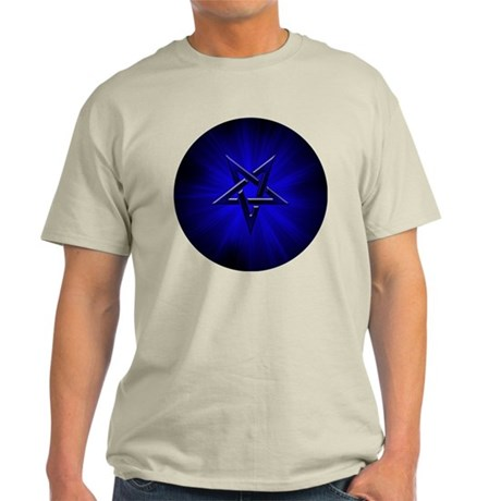 Ominous Blue Inverted Pentagram Light T-Shirt