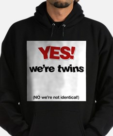 Yes We're Twins - Hoodie (dark)