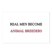 Real Men Become Animal Breeders Postcards (Package
