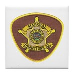 Tombstone Marshal Tile Coaster