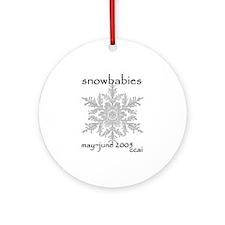 CCAI Snowbabies (black & white) Ornament (Round)