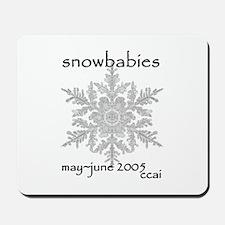 CCAI Snowbabies (black & white) Mousepad
