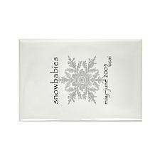 CCAI Snowbabies (black & white) Rectangle Magnet