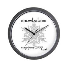 CCAI Snowbabies (black & white) Wall Clock